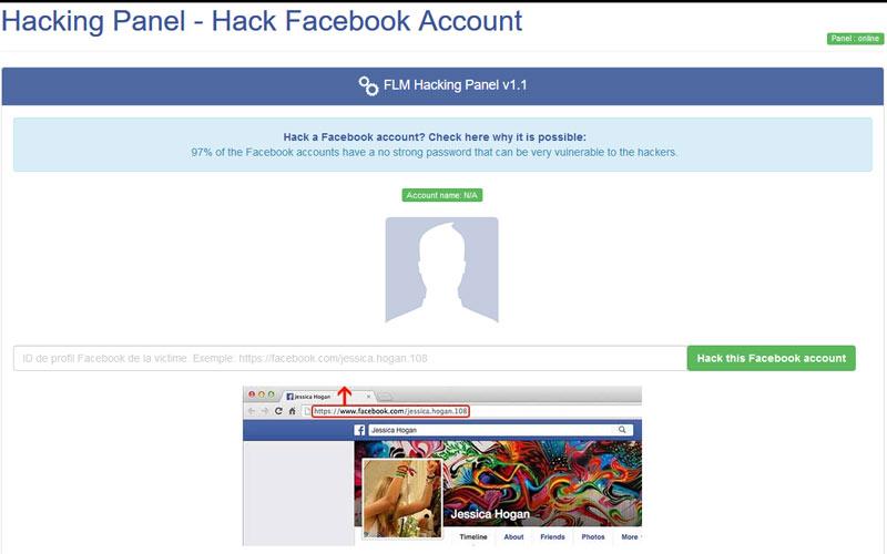 هک کردن فیس بوک