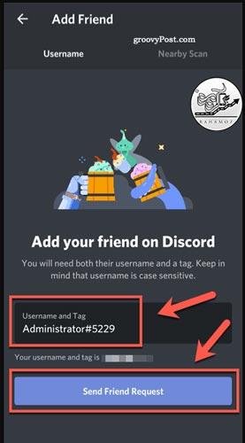اد کردن دوستان در دیسکورد