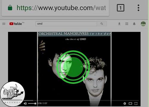 نحوه تکرار ویدئوهای یوتیوب باز کلیک کردن